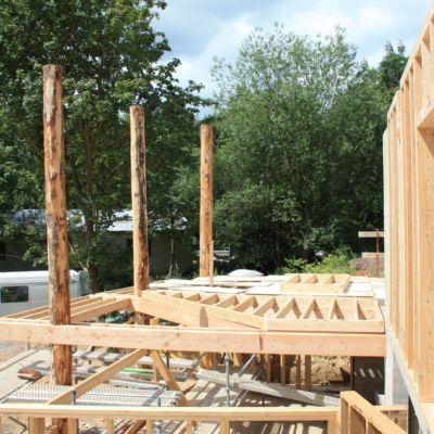 Bâtiment Ossature Bois Poteaux Mélèze